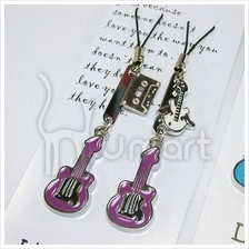 Music Mini Guita Cassette Couple Handphone Strap (2 per set)