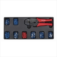 Sealey Tool Tray with Ratchet Crimper  & 325 Assorted Insulated Terminal Set