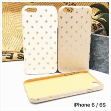 Apple iPhone 6 6s 7 Plus Matte Leather Feel Star Design Case