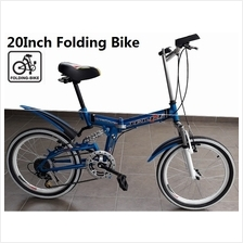 20 inch Folding Bike 7 Speed Foldable Bicycle High Carbon Steel Frame