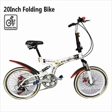 20 Inch Folding Bike Cycling Bicycle 7 Speed Suspension