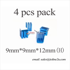 4pcs 9mm*9mm*12mm alluminium heatsink w/ adhesive film 4r IC RAM Chip Power Bl