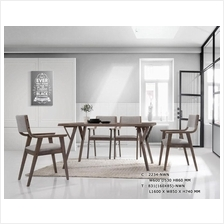 EURO LEISURE STYLE SOLID WOOD DINING SET 6+1 | Meja Makan