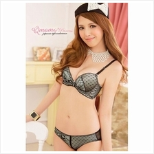 02504 Korean Style Embroidery Lace Push Up Bra Set