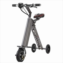 NAZA Portable Tri-Wheel Scooter Bike Auto Electrical Foldable Bicycle