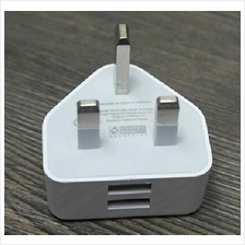 UK Plug 3 Pin Power Adapter Wall Charger Single/Dual USB & Travel Plug