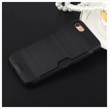 iPhone 7 8 plus Hybrid slim Armor Card Slot Wallet Case cover 2in1