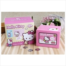 Cute Steal Coin Music Hello Kitty Bank Money Bank  Saving Box Toy Gift