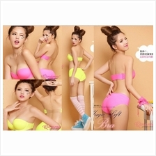 00881 Korean Style Seamless Push Up Side Buckle Bra Set