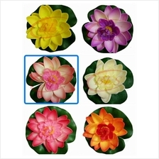FLOATING ARTIFICIAL LOTUS FLOWER 6 COLORS  WATER FOUNTAIN DECORATION