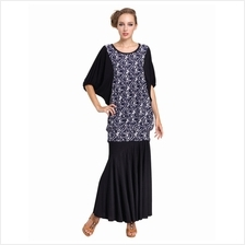 Fashion Retro Design Batwing Long Top