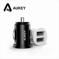 Original AUKEY Universal 4.8A Dual Port Mini Car Charger Adapter