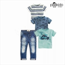 Kids Age 1  – 8 ~Blue Tee Collection  & Pants~ Pre-order)