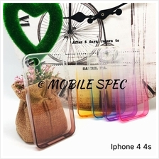 Apple iPhone 4 4s 5 5s 6 6s 7 Plus Rainbow Transparent Case