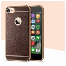 Iphone 7 7+ 6S 5S Slim Leather Skin Plating Tpu Silicone Case Cover