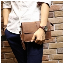 Men Retro Casual PU Leather Clutch Bag Wallet