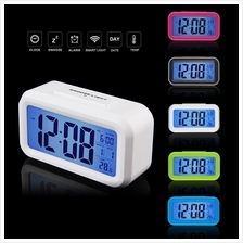 LED Digital Electronic Alarm Clock Backlight Time With Calendar + Ther..
