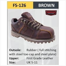 Hercules Safety Shoes First Grade Cow Leather Steel Shoes Boot FS126
