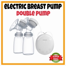 READY STOCK Electric Breast Pump Dual Breast Pump 2 Baby Bottles