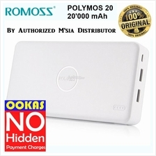 Romoss 20000mAh High Capacity Power Bank 2 USB Charger Polymos 20