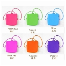 03546 Practical large silicone purse n shoulder bag