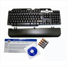Genuine New DELL Bluetooth Multimedia Black Silver 104 Keys Keyboard