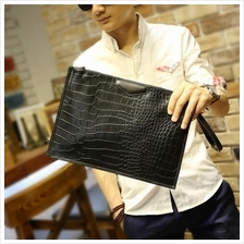 MABLE FASHION Men Crocodile Pattern Messenger Clutch 1188 (P)