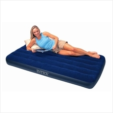 Intex Inflatable Flocked Air Twin Bed Mattress+Electric Pump
