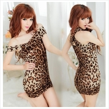 Leopard Tight Party Dress (3 Stlye in 1) Lingerie Sleepwear