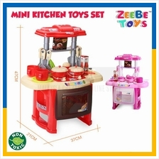 ZEEBE TOYS Kitchen Electronic Sound Light Kids Pretend Play Cook Role