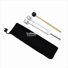 128/256/512Hz Hearing Diagnostic Tuning Fork With Hammer Ball Set