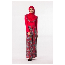 Fashion Two-Piece Batik Jubah Dress Ribbon (Including Shawl)
