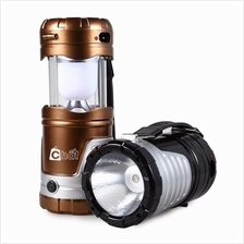 LED Rechargeable Camping Light with Solar 1W+6LED