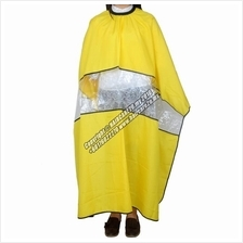 Salon Barber Waterproof Transparent Window Apron Hair Cutting Cape