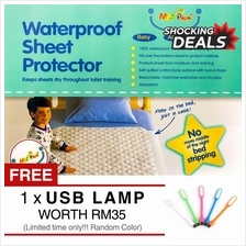 100% Waterproof 3 Layers Bed Sheet Protector Old People/Pregnant
