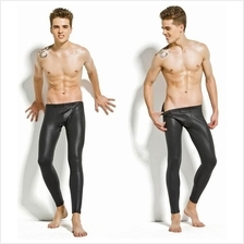 0101 PVC LEATHER MEN TROUSERS (WM Free Pos Laju) Casual Leather Pants
