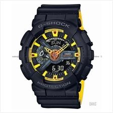 CASIO GA-110BY-1A G-SHOCK ana-digi black yellow resin strap SC