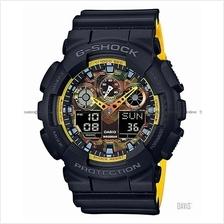CASIO GA-100BY-1A G-SHOCK ana-digi black yellow resin strap SC