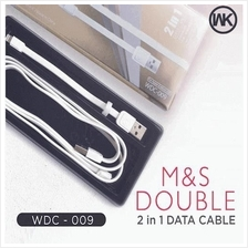 WK M&S Cable 2in1 Ultra Fast Charge Data Cable Lightning Micro(BLACK)