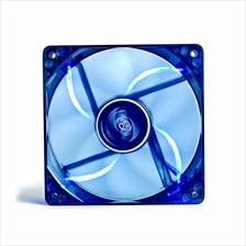120MM 12CM Blue LED Case Fan Hydro 3Pin Molex 26db Transparent Frame