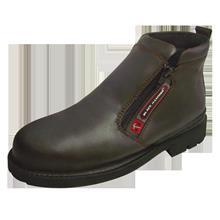 Black Hammer Safet Shoe Men Medium Cut Zip Up Brown BH4663 FOC Del GST