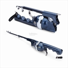 Folding Telescopic Sea Rod Suit Portable Fishing Pole With Fish Line
