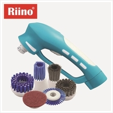 Riino Cordless Power Scrubber Rechargeable Brush [Free 6 Brush set]
