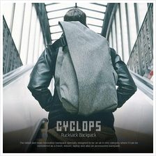 Cyclops Travel & Leisure Futuristic Splashproof Rucksack Backpack Grey