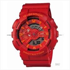 CASIO GA-110AC-4A G-SHOCK Ana-Digi America Colors resin strap red
