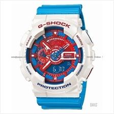 CASIO GA-110AC-7A G-SHOCK Ana-Digi America Colors resin white blue