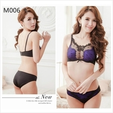 M006 Sexy U Plunge Underwire Push Up Bra Set with Panties (2 Colour)