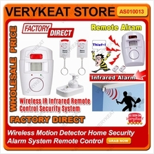 Home Security System Wireless PIR Motion Sensor Detector Alarm Remote