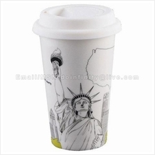 New York Statue of Liberty Double Wall Coffee Mug I Am Not A Paper Cup