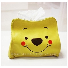 New Winnie the Pooh Cute Tissue Paper Box Case Holder Car Home Decor